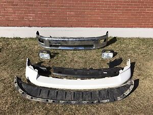 Ram 1500 white front bumper with chrome