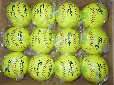 1 Dozen Dudley SY-12 RF40 ASA Thunder Softballs, 4A-841Y