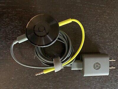 Google Chromecast Audio Media Streamer - Black (RUX-J42)