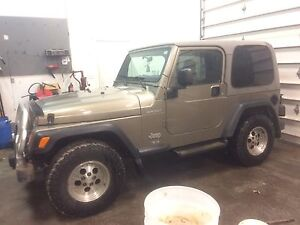 2003 jeep tj sport 9300 km no rust what so ever !