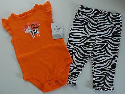 Carter's~Body + Hose~USA~62/68~Zebra~Babyanzug~Sommer~Zweiteiler~Spieler~Spruch