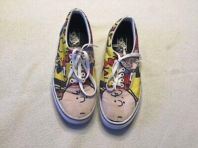 Vans Era X Peanuts Gang Charlie Brown Skate Shoes Sneakers Men's Sz 9