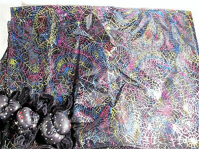 "76""x58"" Spider Web Tablecloth With Adjustable Spiders At Corners"