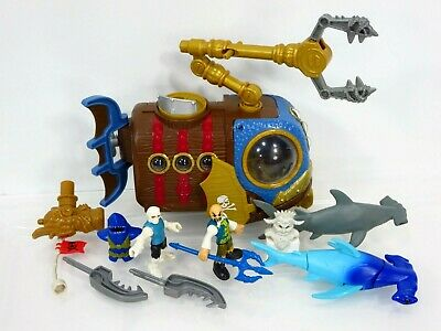 Imaginext Submarine Pirates Shark Pirate Figures Hammerhead Lot Fisher Price
