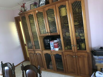 Timber and glass wall unit | Cabinets | Gumtree Australia Outer ...
