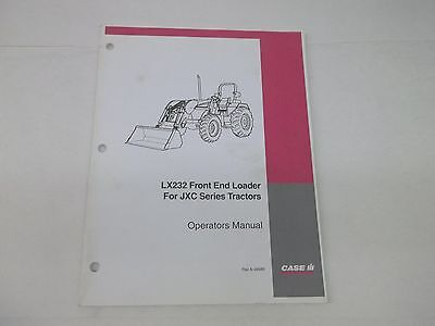 Case Ih Lx232 Front End Loader For Jxc Series Tractors Operators Manual