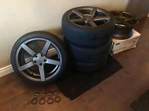 Mint condition wheels and tire plus spare Audi, Mercedes Vw