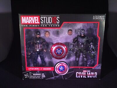 NEW Hasbro Legends Series Marvel Studios Civil War Captain America & Crossbones