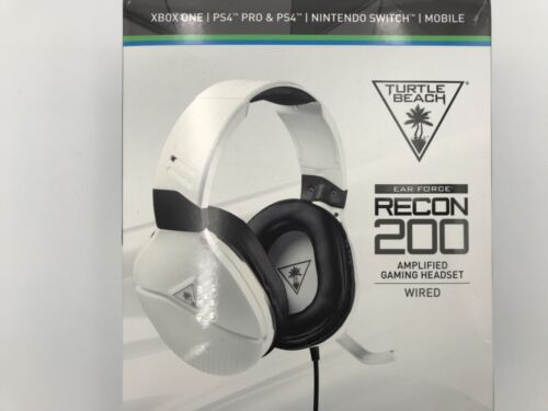 Turtle Beach RECON 200 Wired Stereo Gaming Headset White TBS-3220-01