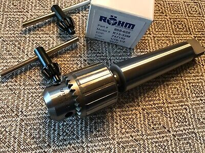 Rohm Drill Chuck Made In Germany 116-12 Capacity Mt4 X Jt33 Arbor