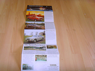 Car brochure 1979 Toyota pull out