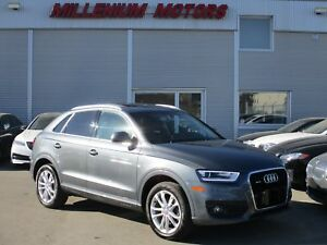 2015 Audi Q3 2.0T AWD TECKNIK / NAVI/ B.CAM/ SUNROOF/ LEATHER
