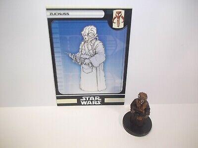 Star Wars Miniatures - Zuckuss 53/60 + Card - Rare - Bounty Hunters