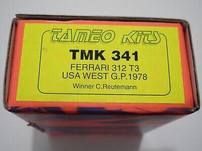 1/43 KIT 341 Tameo Ferrari 312T3 USA GP 1978 Reutemann Formula 1 AMR BBR GTO