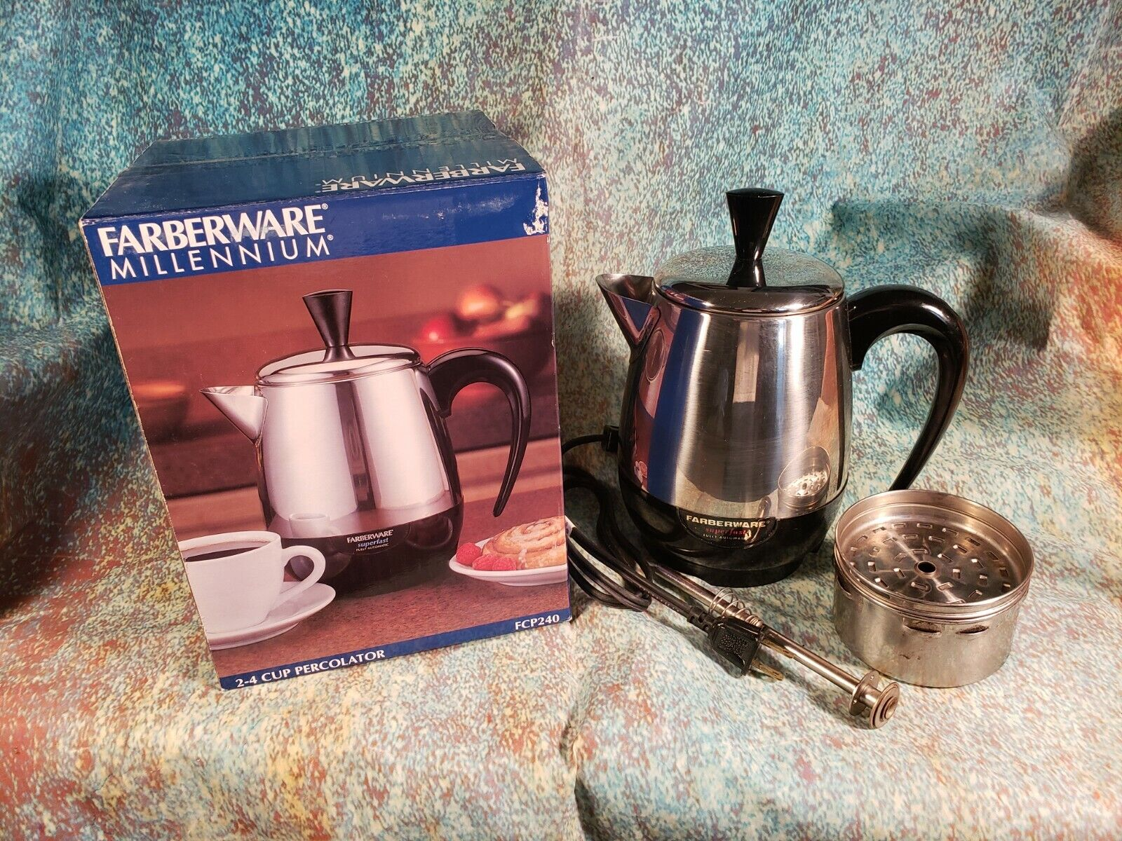 Farberware Superfast 2-4 Cup Stainless Steel Percolator Coff