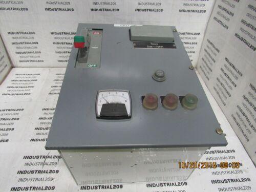 SQUARE D MOTOR CONTROL SIZE 1 STARTER 8736SC07H308S w/ 15 AMP BREAKER USED