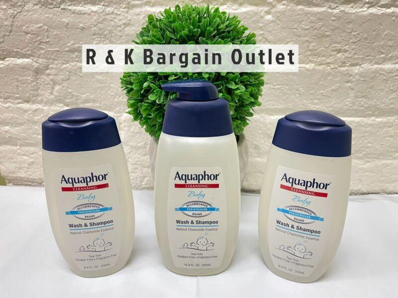 3 ~ Aquaphor Baby Wash & Shampoo With Chamomile Essence 16.9 & 8.4Oz Please Read