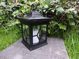 Grablampe Grablicht Grableuchte LED SOLAR LATERNE mit Kerze