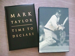 Mark Taylor Time to Declare Leather Bound Signed Limited Edition Westmead Parramatta Area Preview