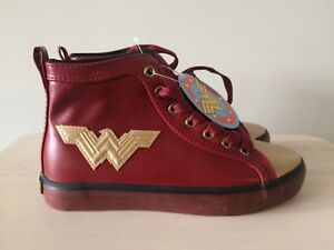 Teen Wonder Woman Sneakers - NEVER WORN!