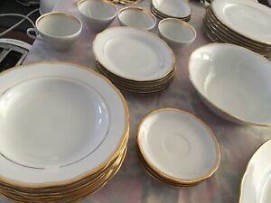 Gold rimed dish set