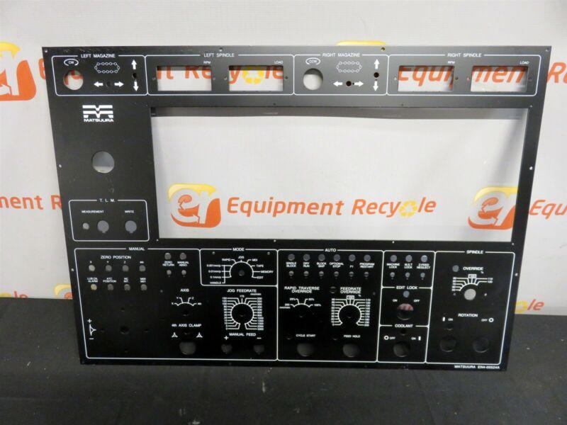 Matsuura EN4-00524A Main Operator Control Panel Face Plate Faceplate