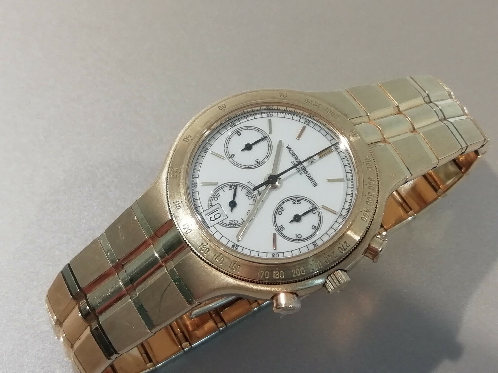 VACHERON CONSTANTIN PHIDIAS Chronograph Solid 18k Yellow Gold 35mm Gents Watch - watch picture 1