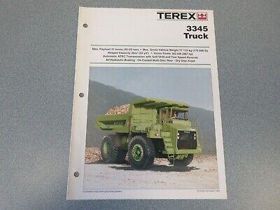 Terex 3345 Dump Truck Literature