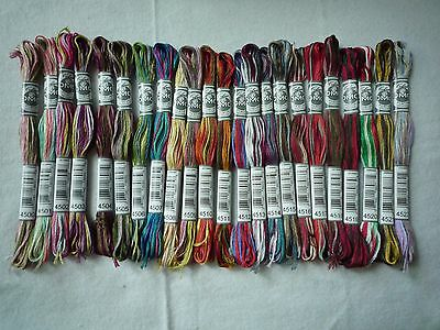 DMC Floss New Variegated colors - Lot of 24 Skeins