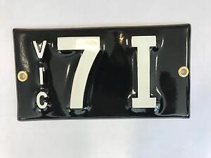 Signature Number Plates South Melbourne Port Phillip Preview
