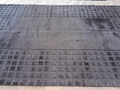 Modern Solid rug 9x12 wool woven Carpet Charcoal Grey Silky