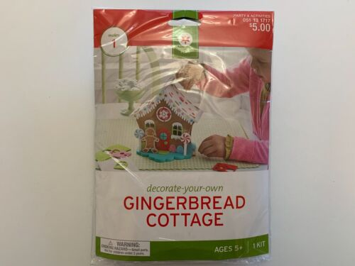 NEW Target Decorate-Your-Own Foam Gingerbread Cottage Kit Ages 5+ Holiday Craft