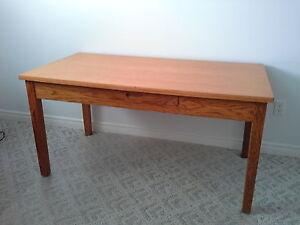 Refinished antique oak office table