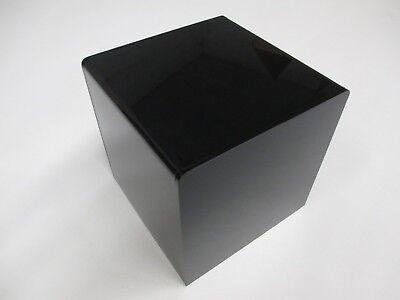 6 X 6 X 6 Black Acrylic 5-sided Display Riser