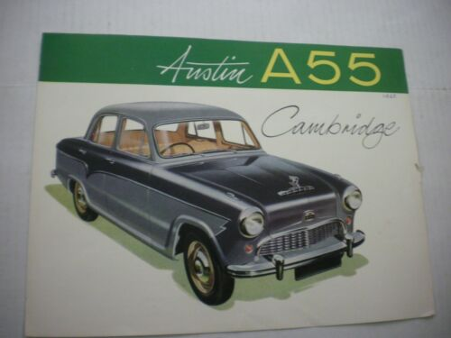 1960 Austin A55 Cambridge Color Car Brochure 4 Pages