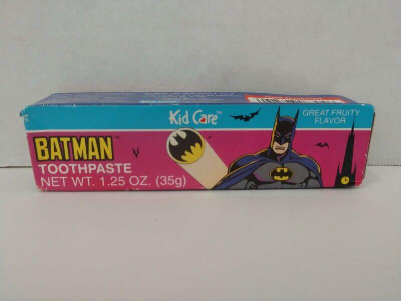 1992 Kid Care Batman Toothpaste NIB Bruce Wayne Robin Gotham City Joker