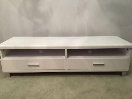 TV Entertainment Stand Unit - White