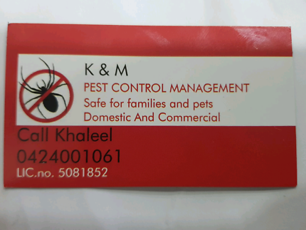 K&M PEST CONTROL MANAGEMENT