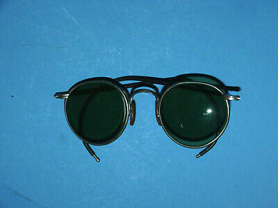 Vintage Bausch and Lomb B&L Ful Vue 23 Steampunk Glasses Motorcycle Goggles