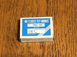 100 Tiemco Dry Fly Hooks, TMC 100 Size 18, Fly Tying