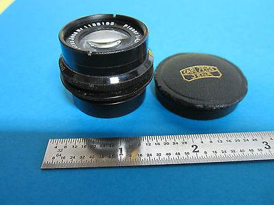Rare Microscope Objective Lens Carl Zeiss Jena Germany Planar 4.5x 7.5cm Optics