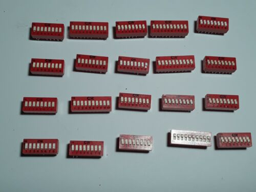 20 NEW C&K 8 POSITION SPST DIP SWITCHES