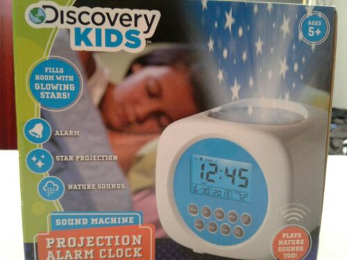 BRAND NEW DISCOVERY KIDS SOUND MACHINE PROJECTION ALARM CLOCK
