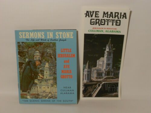 Vintage Ave Maria Grotto Cullman Alabama Travel Brochure & Guide *FREE SHIPPING*