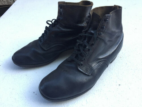Original WWII German Infantry ankle hob nail combot boots Size 8.5