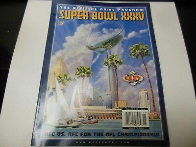 2001 NFL FOOTBALL SUPER BOWL XXXV GAME PROGRAM NY GIANTS VS BALTIMORE RAVENS