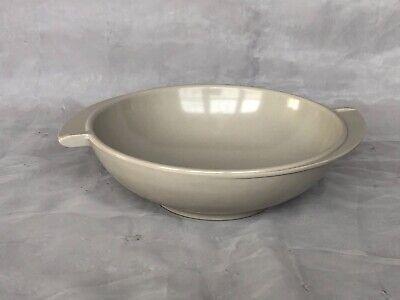 VINTAGE Boontonware Serving Bowl Gray Melmac Melamine Plastic Atomic Age Kitchen