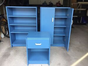 Book cases and night stand