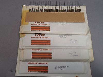 Mixed Lot Of 100 Trw 1 Watt Carbon Comp Resistors 150 9100 Ohm