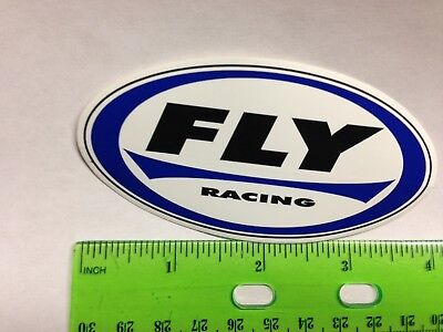 """4"""" FLY RACING BIKE BMX Helmet - MTB STREET MOTOCROSS RACE STICKER DECAL 🚲⭐🚲 for sale  Shipping to India"""